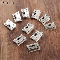 DRELD 10Pcs Stainless Steel Spring Loaded Butt Hinges 4 Holes Cab