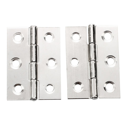 2pcs Stainless Steel 2 Inch 4.4x3.1cm Cabinet Door Hinges Hardwar