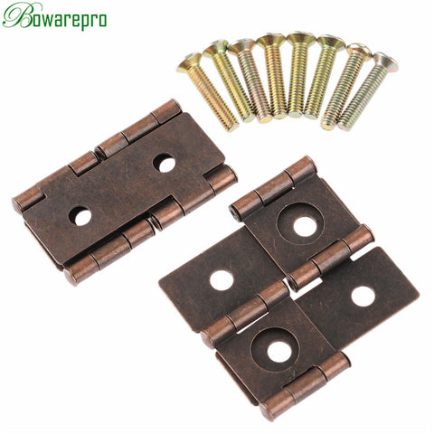 bowarepro 2Pcs Furniture Hinges Cabinet Drawer Jewellery Box Hing