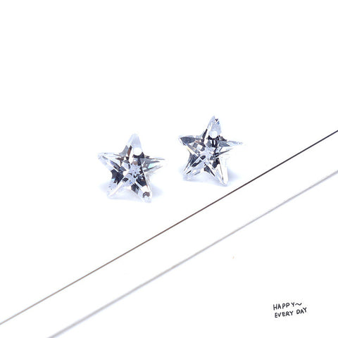 SEA MEW Fashion Geometry Zircon Earrings Accessories Crystal Pend