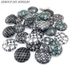 Image of ZEROUP 10pcs/lot 20mm 25mm round pattern glass cabochon,mixed pat