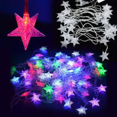 5M 28 STAR Shaped LED String Fairy Lights Holiday Lighting LED Xm