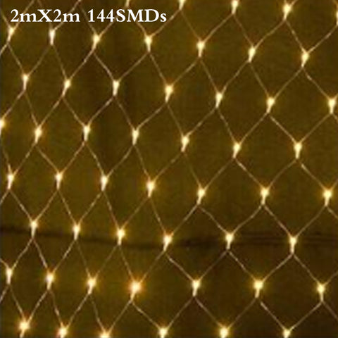 2M x 2M 144 Led 8 modes 220V super bright net mesh string light x