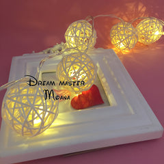 White Rattan Ball 4m String Light Warm White Light Fairy Light Ho