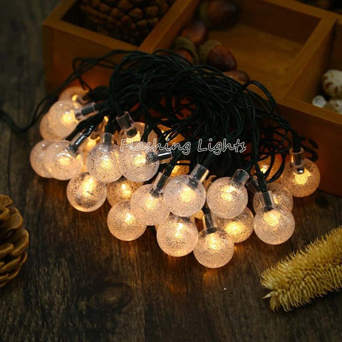 Waterproof Solar String Light 4.8M 20LED crystal ball Fairy Light