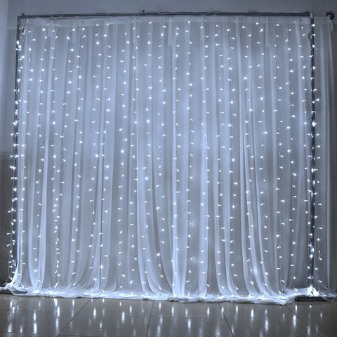 9.8ft x 9.8ft 300 LED 8 Modes LED Curtain Icicle Lights Christmas