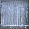 Image of 9.8ft x 9.8ft 300 LED 8 Modes LED Curtain Icicle Lights Christmas