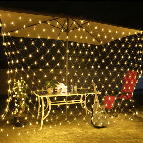 LED Net Mesh String Light 1.5x1.5M 2x2M 3x2M Outdoor Indoor TV Ba