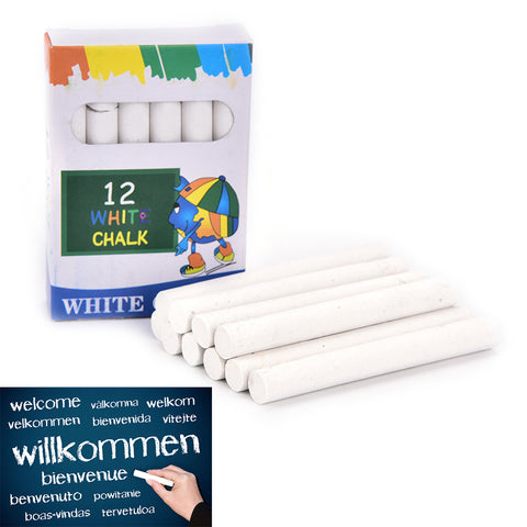 White Non-Dust Chalks Stationary Office School Supplies Accessori