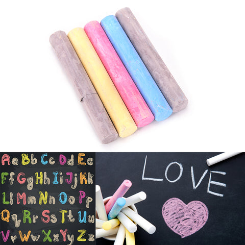 5Pcs/set 5 Colors New Dustless Chalk Pen Drawing Non-Dust Chalks