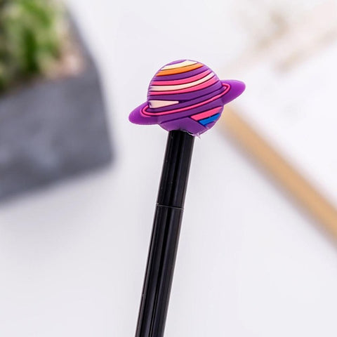 1Pcs Novelty Saturn Universe New Colorful planet Stars Pen Gel Pe