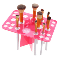 26 Holes Acrylic Makeup Brushes Holder Stand Foldable Organizing