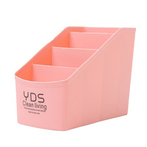 Cosmetic Organizer  4 Lattices Sundries Storage Box Office Organi