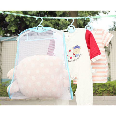 2018 Balcony windproof frame fixed pillow Multifunctional pillow toys drying rack drying racks hanging racks Net Home Container