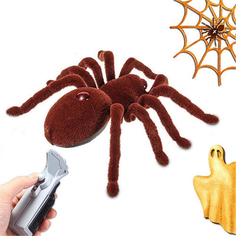 Electronic Toys New Remote Control Soft Scary Plush Creepy Spider Infrared Rc Tarantula Kid Gift Toy Gift