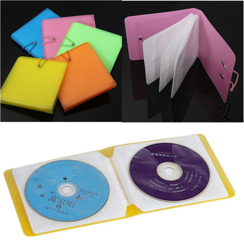 Nice 12 Plastic CD DVD Disc Double Sleeve Holder Clear Storage Ca