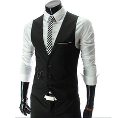 2018 New Arrival Dress Vests For Men Slim Fit Mens Suit Vest Male Waistcoat Gilet Homme Casual Sleeveless Formal Jacket