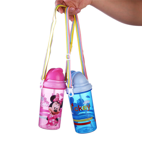 Plastic Straw Water Bottle Leakproof PP Children Bottle For Water