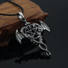 Image of Vintage Double Dragon Pendant Hollow Pentagram Kuroshitsuji Penda