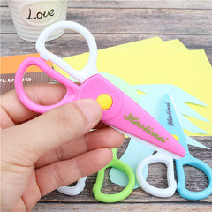 Child safety Scissors prevent hand injury DIY photo plastic Student Scissors/Paper-cutting scissors free shipping
