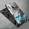 Image of For OnePlus 6 Case 6.28 Fashion Printing Hard PC Glass Back Cover For One Plus 6 oneplus6 Soft TPU Edge Protector Phone Cases