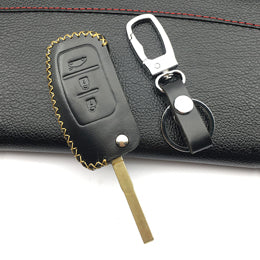 High Quality Leather Car Remote Control Key Leather Cover For Ford Focus 2 Focus3 Sedan Hatchback Car Key Case Auto Parts