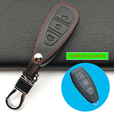 High-quality leather car remote control key leather cover for Ford Focus 2 Focus3 sedan hatchback car key case auto parts