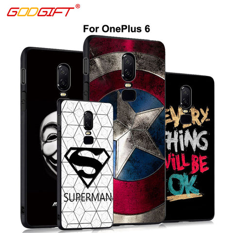 OnePlus 6 Case Luxury Cartoon 3D Relief One Plus 6 Case Silicone Cover For OnePlus6 Protection Phone Case Cover