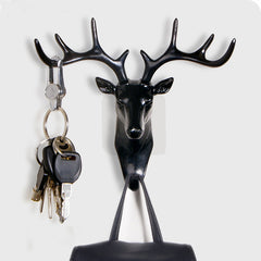 Small hook Creative plastic wall rack for living room hat/bag/key/jewelry rack Three-dimensional deer decor office Bedroom hook