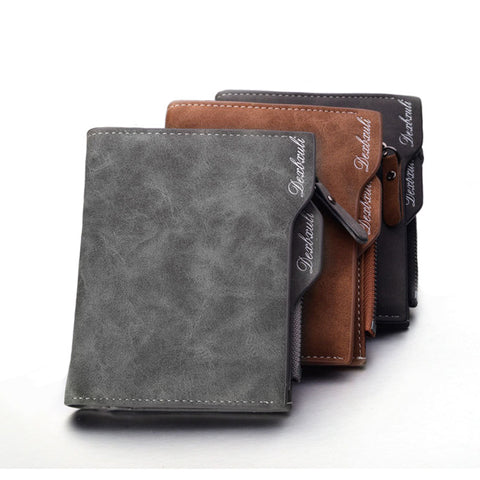2018 Removable Men Wallet Soft Leather Wallets with Card Slots Multifunction Wallet Purse Male Clutch Top Quality carteira 12cm