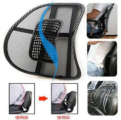 New Car Seat Cover Chair Massage Back Lumbar Support Mesh Ventilate Office Work Relax Rest Cushion Pad Black