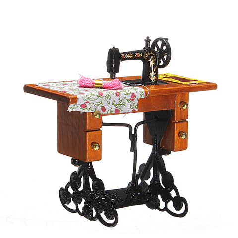 1:12 Pretend Toy Vintage Miniature Sewing Machine Furniture Toys
