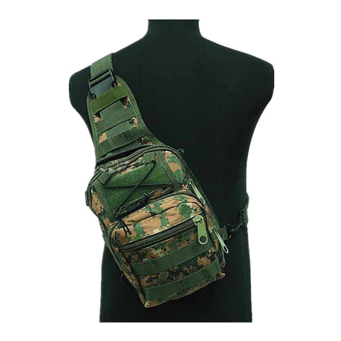 Tactical Molle Utility Gear Shoulder Sling Bag OD Camo Woodland D
