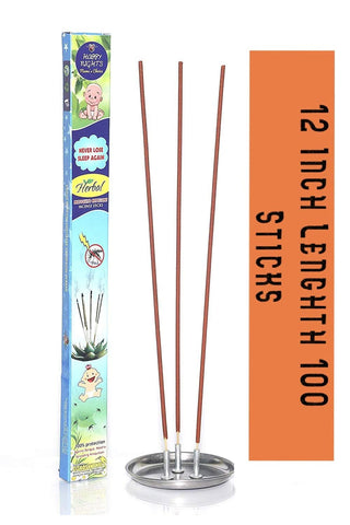 "Happy Nights Herbal Mosquito Repellent Incense Sticks ""Each stick lasts 1.5 hours"""