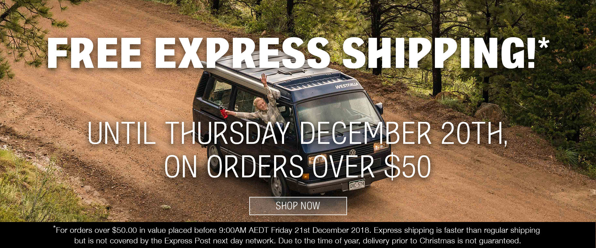 FREE EXPRESS SHIPPING ON ORDERS OVER $50. THIS WEEK ONLY!
