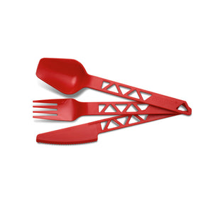 Lightweight TrailCutlery Red