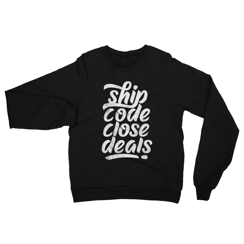 Ship Code Close Deals Unisex California Fleece Raglan Sweatshirt