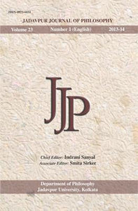 Jadavpur Journal of Philosophy (Vol. 23, no. 1)