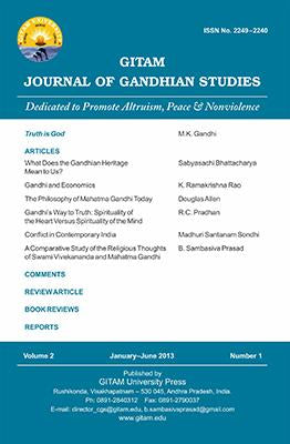Gitam Journal of Gandhian Studies (Vol. 2, no. 1)