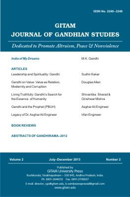 Gitam Journal of Gandhian Studies (Vol. 2, no. 2)