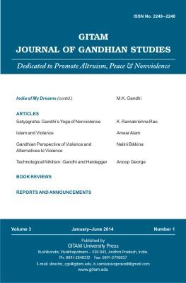 Gitam Journal of Gandhian Studies (Vol. 3, no. 1)