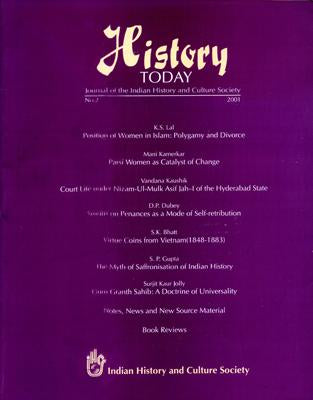 History Today (Vol. 2: 2001) — Journal of the Indian History and Culture Society