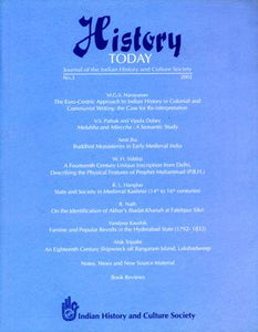 History Today (Vol. 3: 2002) — Journal of the Indian History and Culture Society
