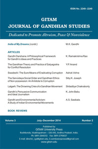 Gitam Journal of Gandhian Studies (Vol. 3 No. 2)