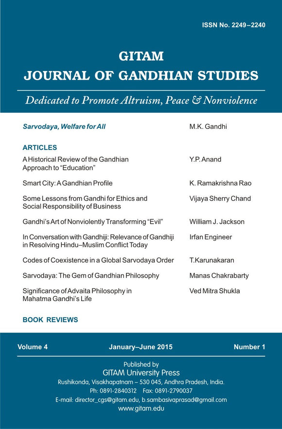 Gitam Journal of Gandhian Studies (Vol. 4 No. 1)