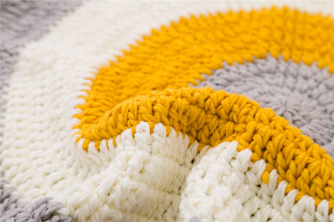 Decorate and furnish your home with our selection of floor mats and door mats for your home decor. This soft yarn knitted is perfect and safe for kid's or baby's room decor.