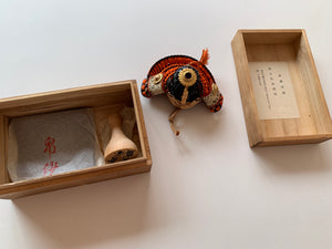 Miniature of Armor of Sanemori Saito (from the 12th century), one of the Sengoku Warlords.  By Icchu Kato, with paulownia box.
