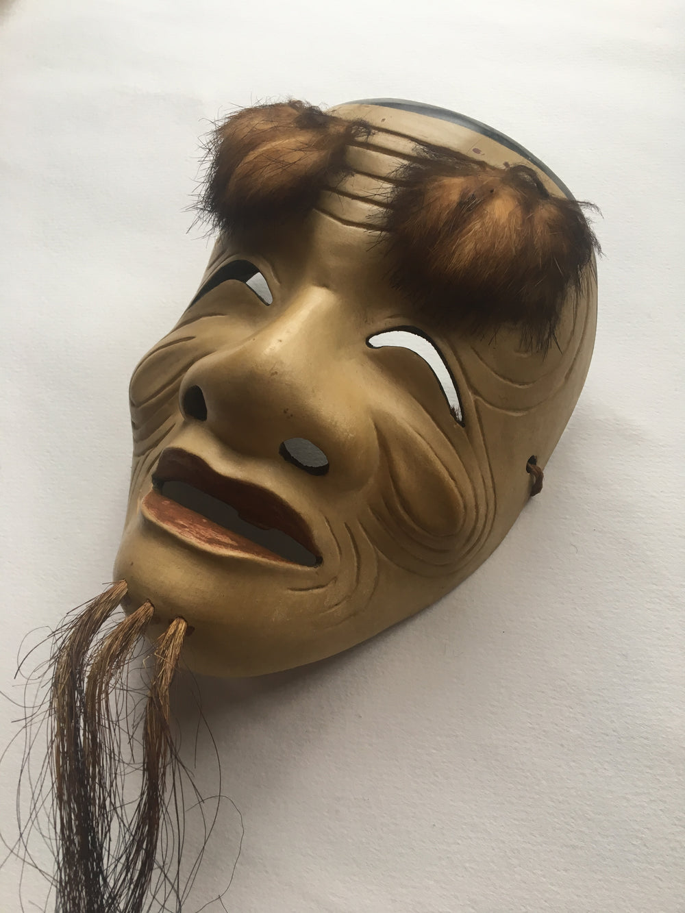 OKINA (old man) / Noh Mask by Enkei (with a paulownia box)