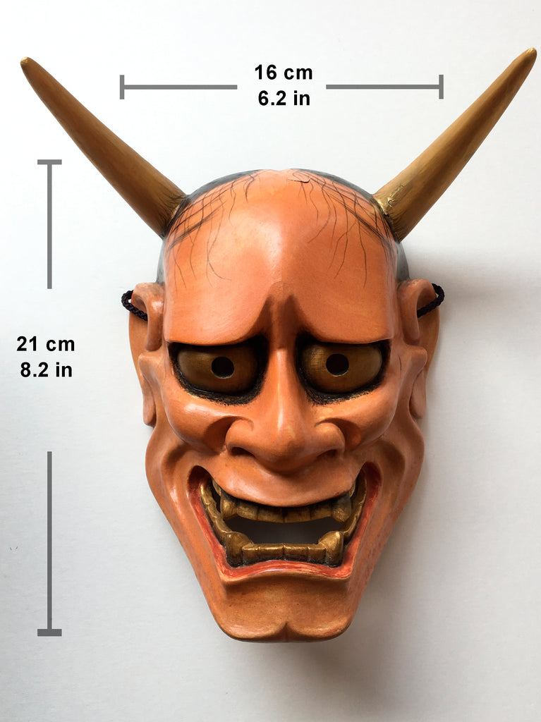 Hannya carved in wood with Paulownia Box.