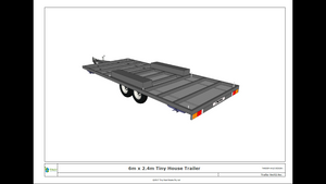 6 Metre Tiny House Trailer